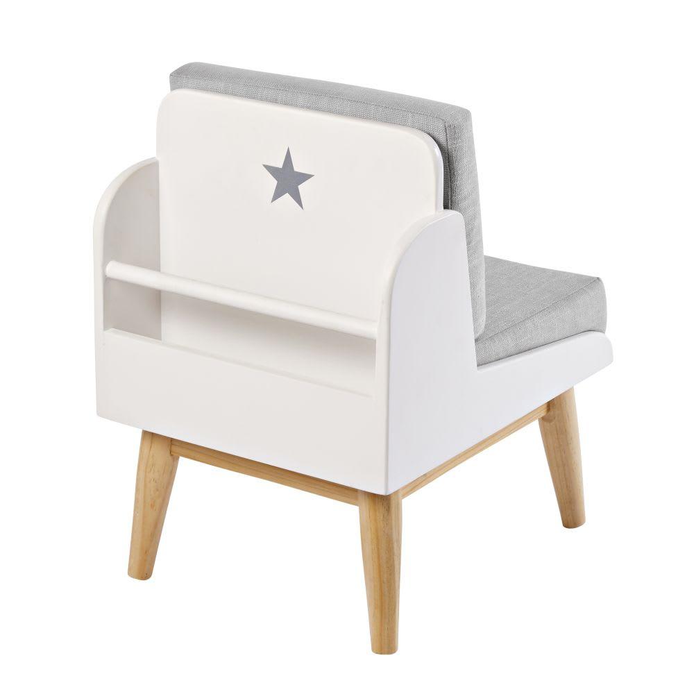 fauteuil biblioth que vintage enfant blanc pastel maisons du monde. Black Bedroom Furniture Sets. Home Design Ideas