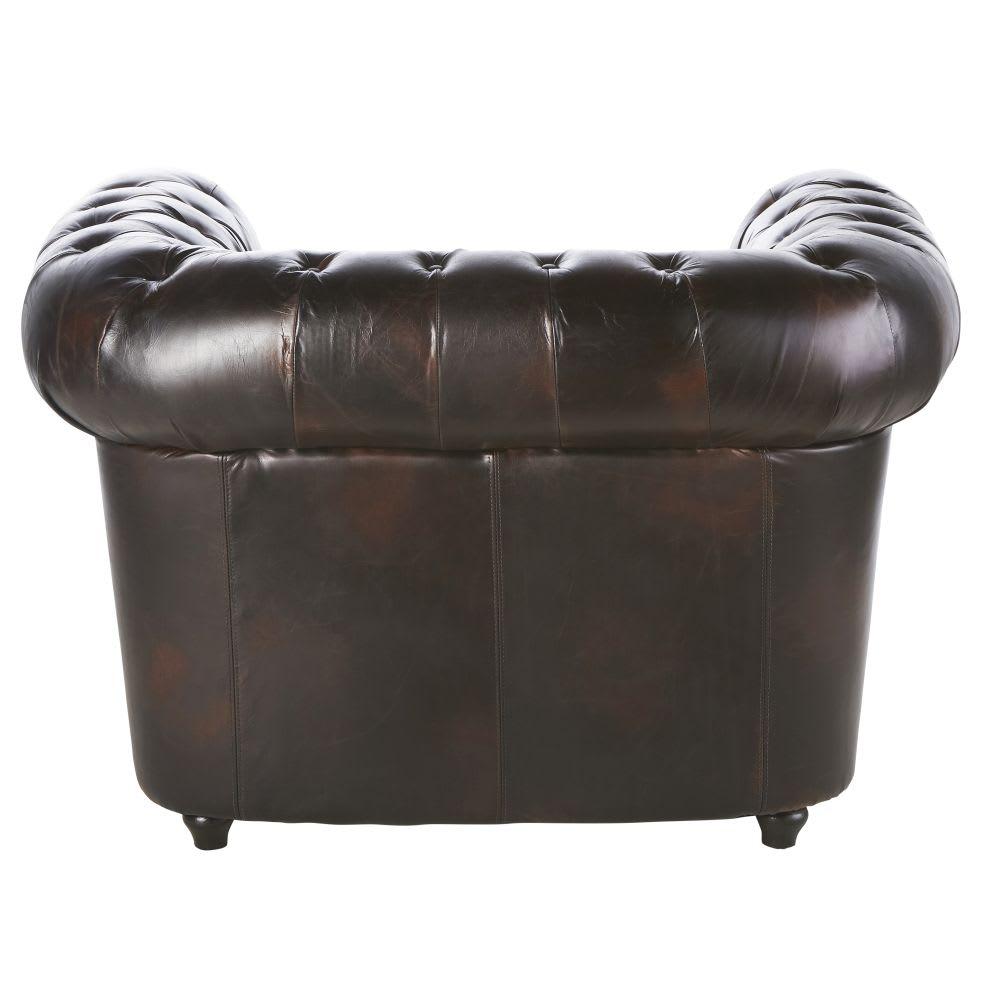 fauteuil capitonn chesterfield en cuir moka chesterfield. Black Bedroom Furniture Sets. Home Design Ideas