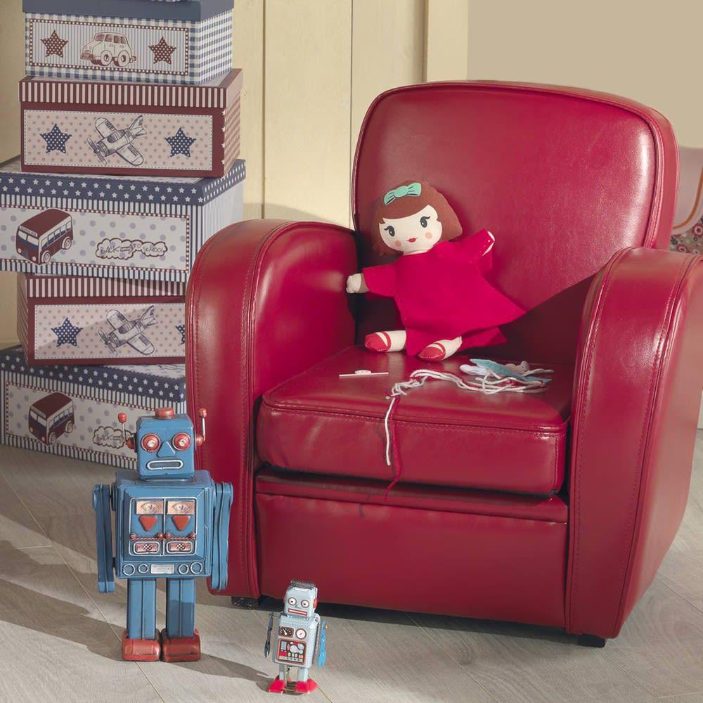 fauteuil club enfant rouge teddy maisons du monde. Black Bedroom Furniture Sets. Home Design Ideas