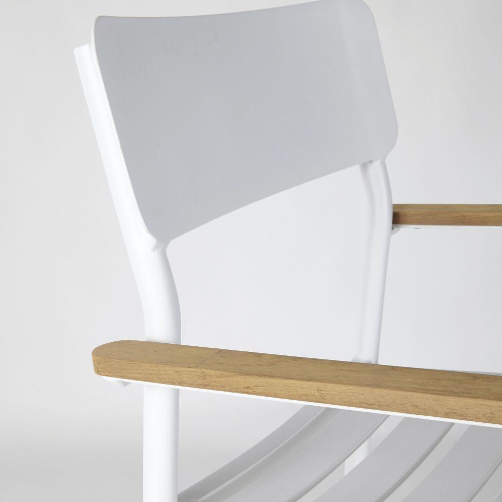fauteuil de bar professionnel en m tal et teck h110 regate. Black Bedroom Furniture Sets. Home Design Ideas
