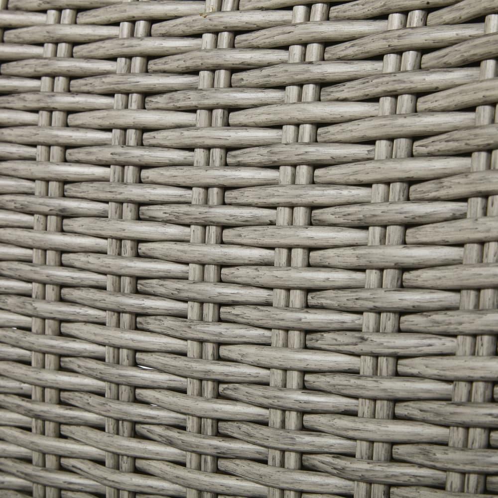 fauteuil de jardin en r sine tress e gris clair lodge. Black Bedroom Furniture Sets. Home Design Ideas