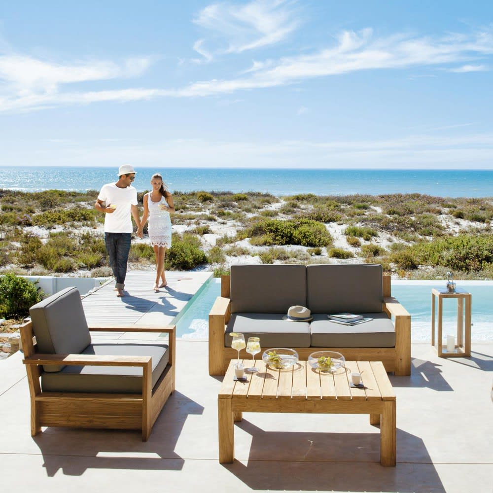 fauteuil de jardin en teck cadaques maisons du monde. Black Bedroom Furniture Sets. Home Design Ideas