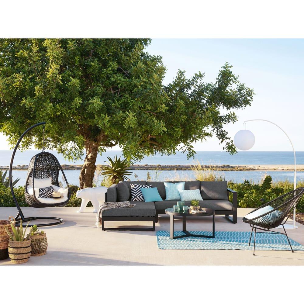Fauteuil de jardin rond noir Copacabana | Maisons du Monde