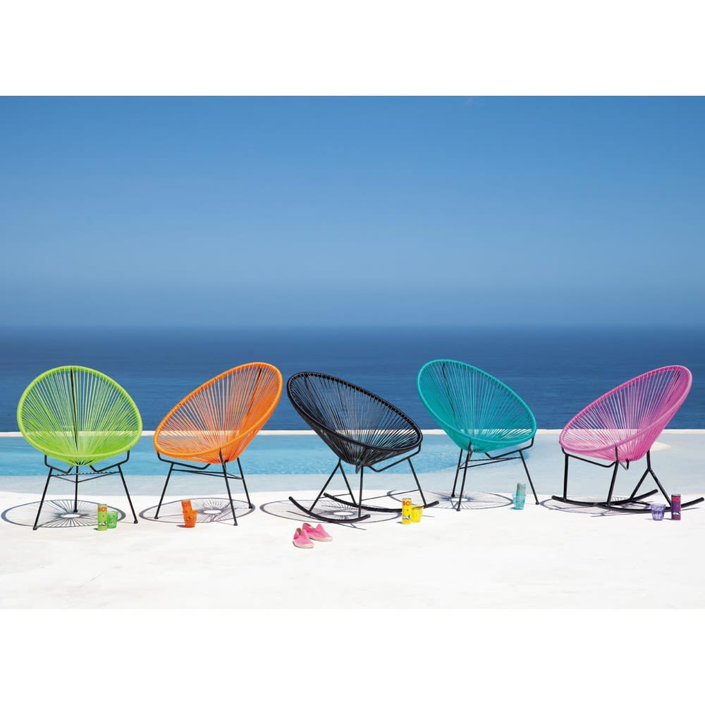 fauteuil de jardin rond vert copacabana maisons du monde. Black Bedroom Furniture Sets. Home Design Ideas