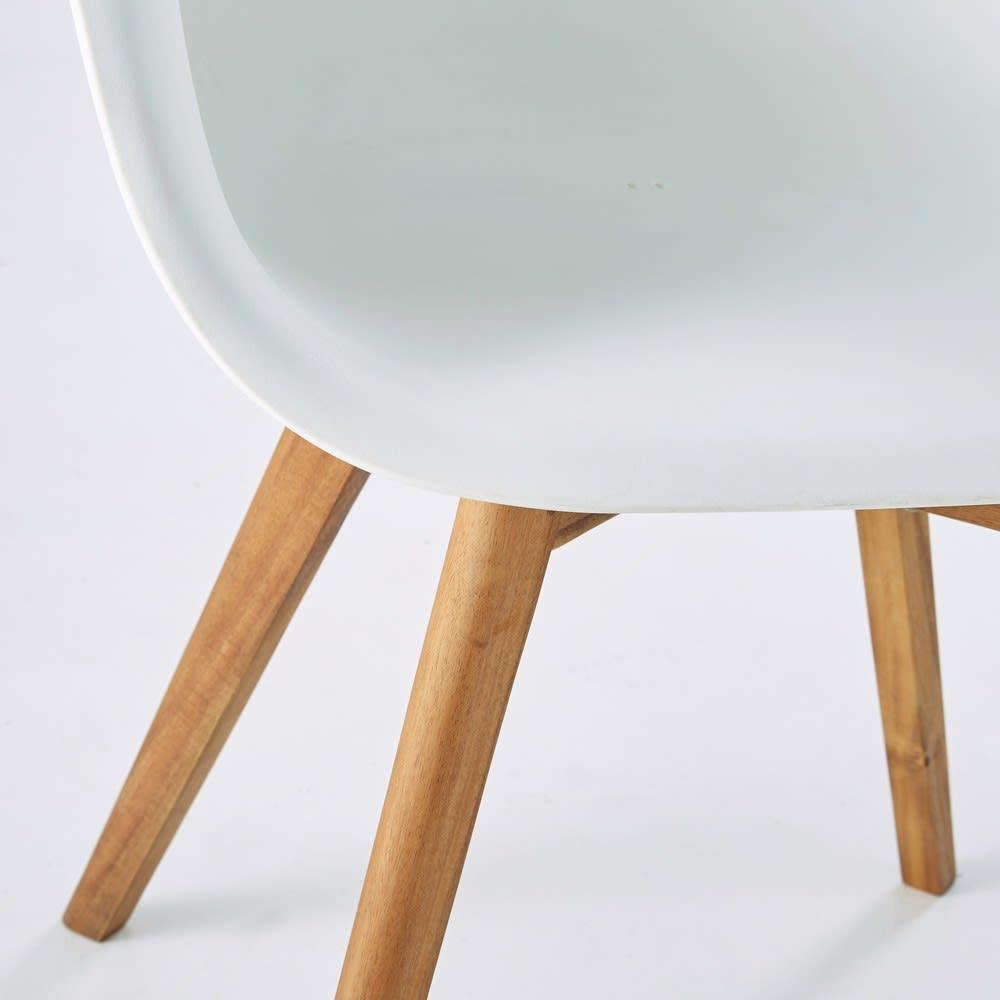 fauteuil de jardin style scandinave blanc lima maisons. Black Bedroom Furniture Sets. Home Design Ideas