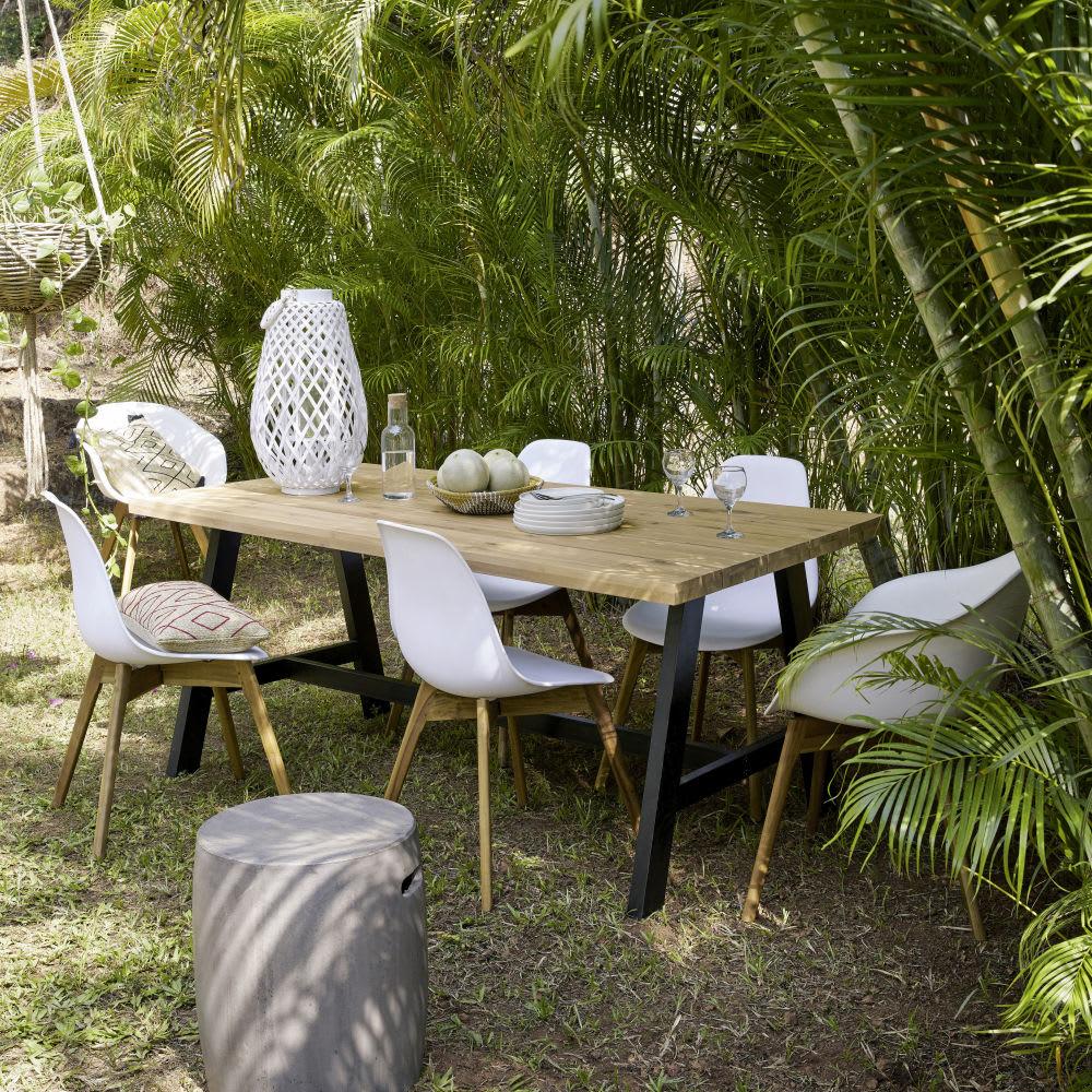 Fauteuil de jardin style scandinave blanc Lima | Maisons du Monde