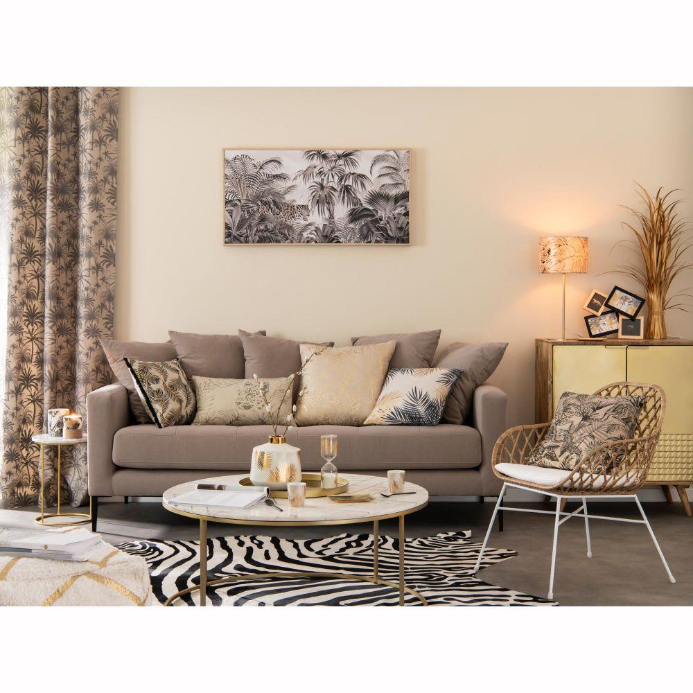 fauteuil en rotin tress amarelo maisons du monde. Black Bedroom Furniture Sets. Home Design Ideas