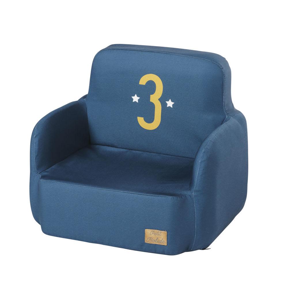fauteuil enfant bleu petit bolide maisons du monde. Black Bedroom Furniture Sets. Home Design Ideas