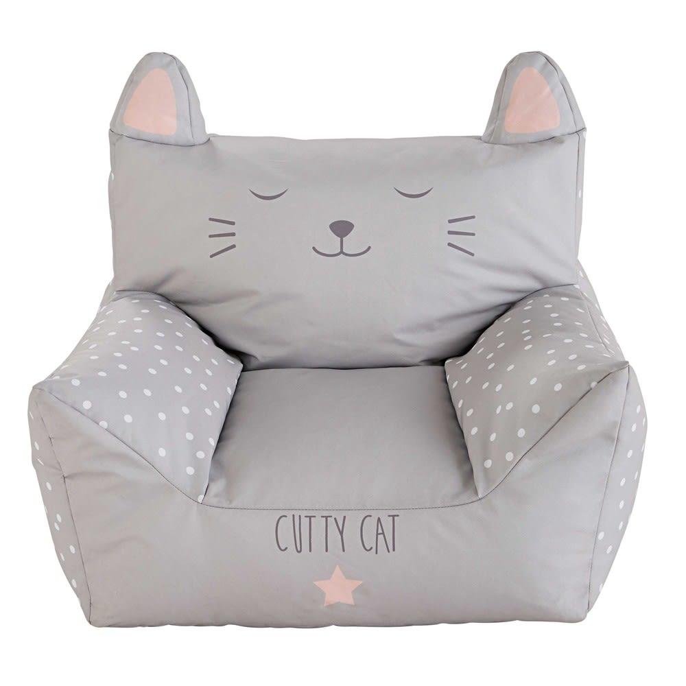 Merveilleux Fauteuil Enfant Imprimé Gris Cats