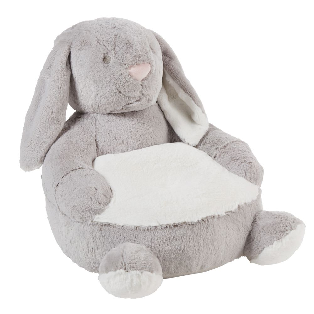 fauteuil enfant lapin gris arthur maisons du monde. Black Bedroom Furniture Sets. Home Design Ideas