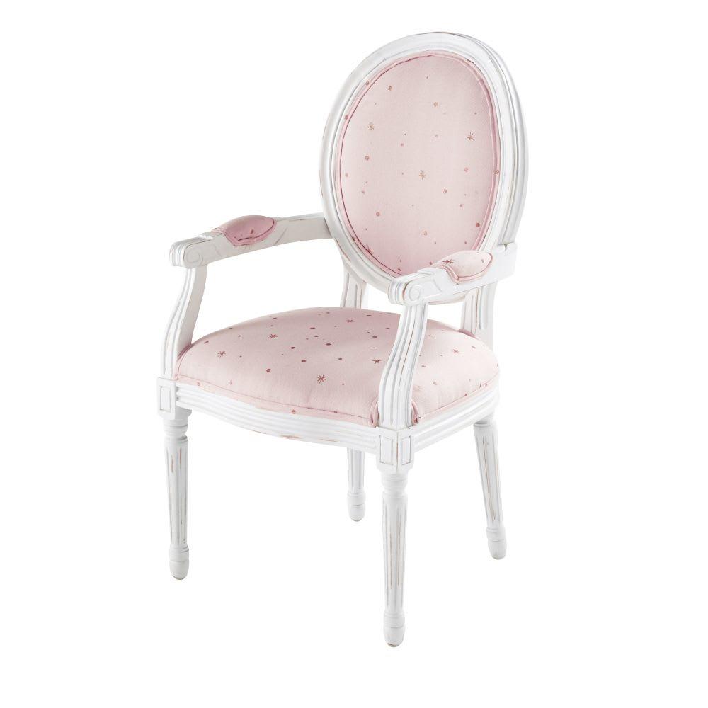 fauteuil enfant rose motifs toiles dor es lilly maisons. Black Bedroom Furniture Sets. Home Design Ideas