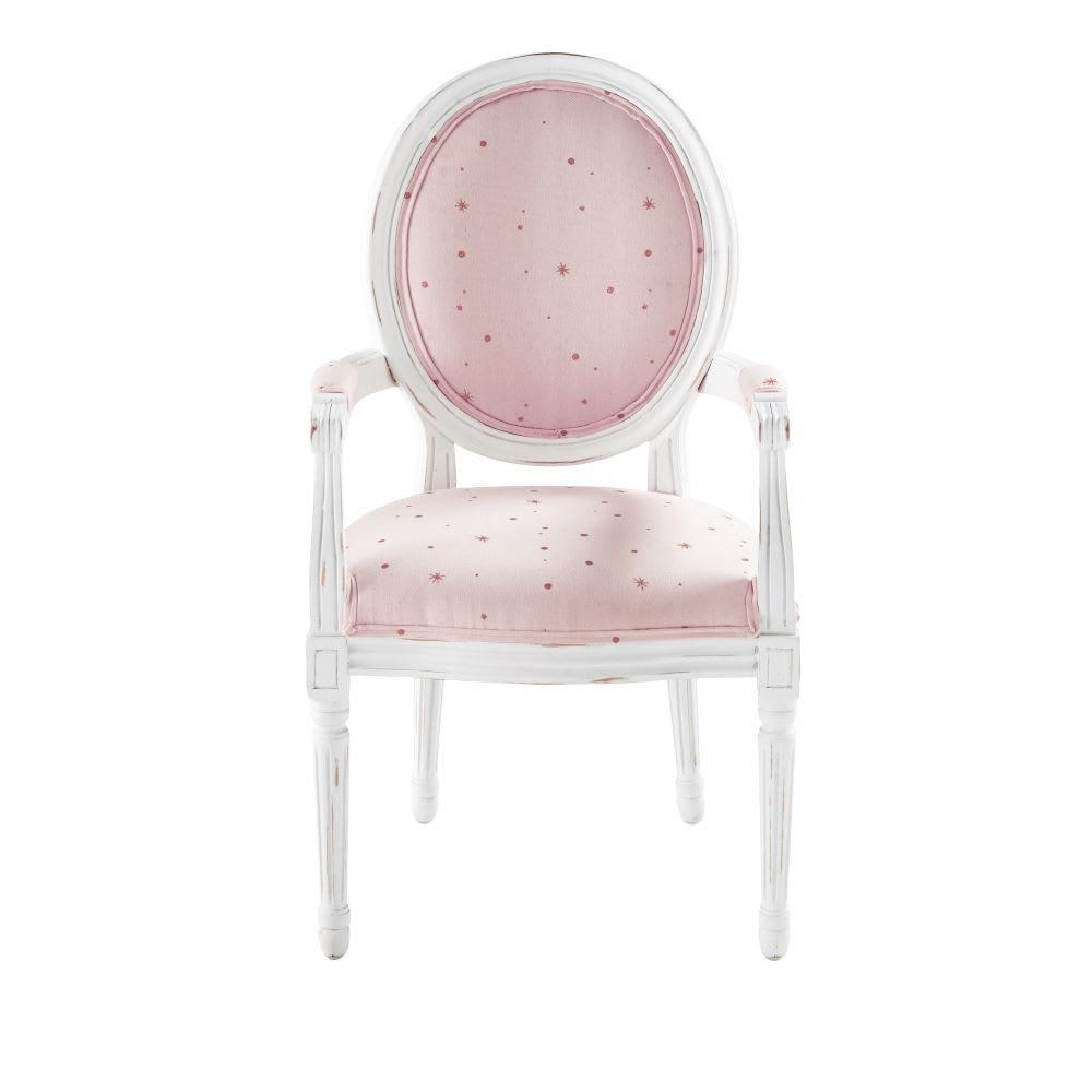fauteuil enfant rose motifs toiles dor es lilly maisons du monde. Black Bedroom Furniture Sets. Home Design Ideas