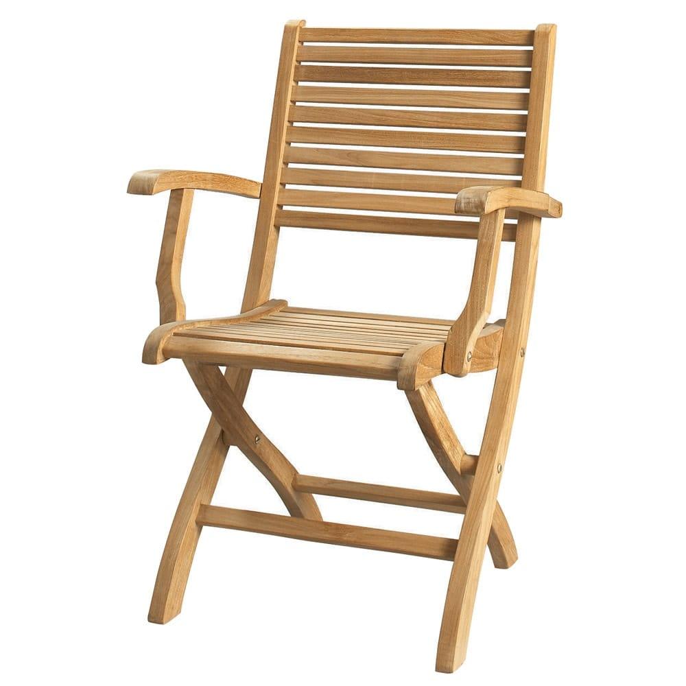 fauteuil pliant de jardin en teck massif ol ron maisons. Black Bedroom Furniture Sets. Home Design Ideas