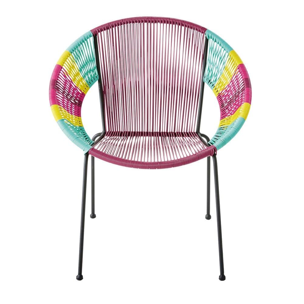 fauteuil rond en fil de r sine multicolore ko samui maisons du monde. Black Bedroom Furniture Sets. Home Design Ideas