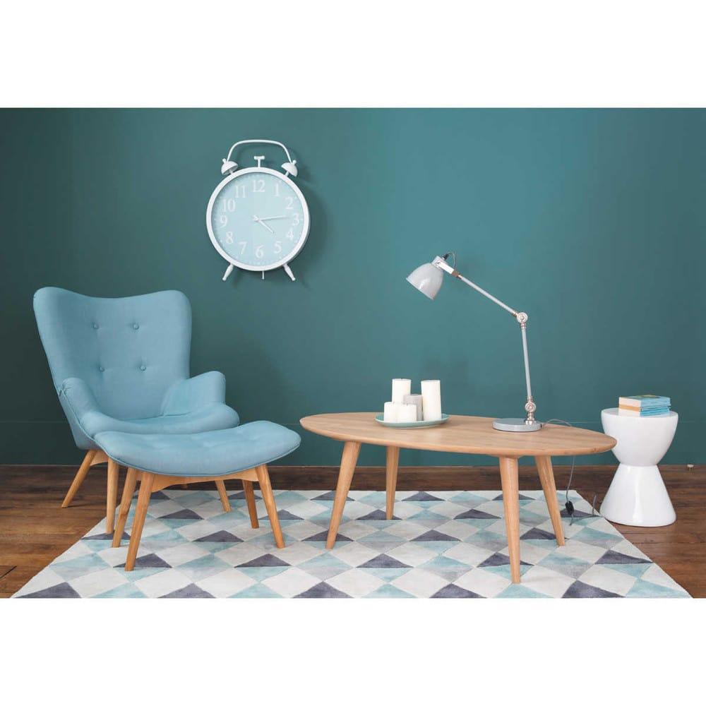 fauteuil style scandinave bleu iceberg maisons du monde. Black Bedroom Furniture Sets. Home Design Ideas