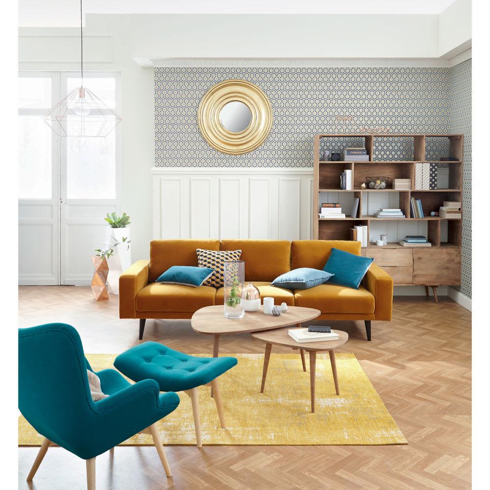 fauteuil style scandinave bleu p trole iceberg maisons. Black Bedroom Furniture Sets. Home Design Ideas