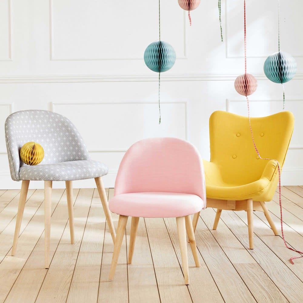 fauteuil style scandinave enfant jaune iceberg maisons du monde. Black Bedroom Furniture Sets. Home Design Ideas