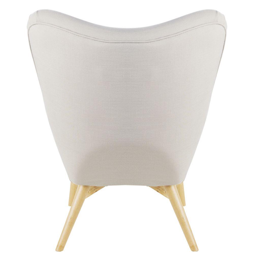 fauteuil style scandinave gris clair iceberg maisons du. Black Bedroom Furniture Sets. Home Design Ideas