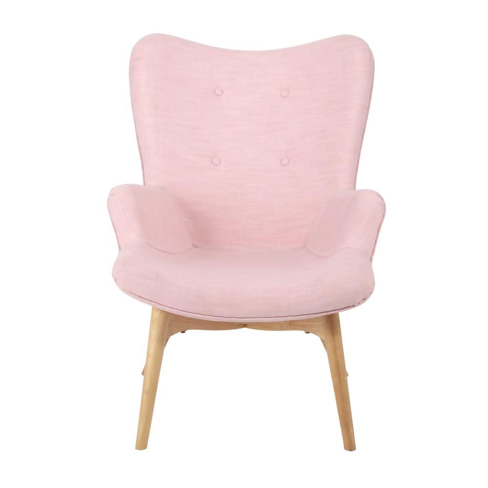 fauteuil style scandinave rose iceberg maisons du monde. Black Bedroom Furniture Sets. Home Design Ideas