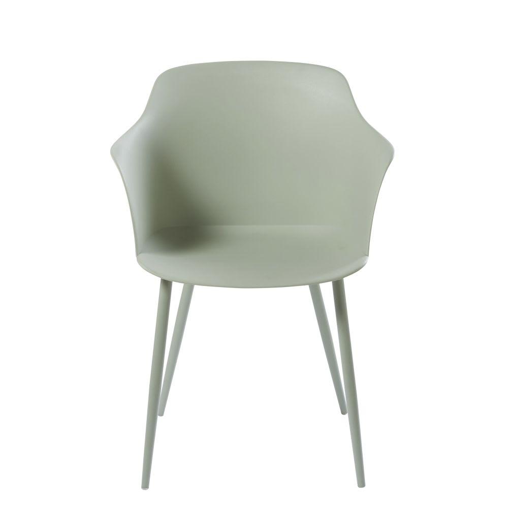 fauteuil vert d 39 eau et m tal will maisons du monde. Black Bedroom Furniture Sets. Home Design Ideas