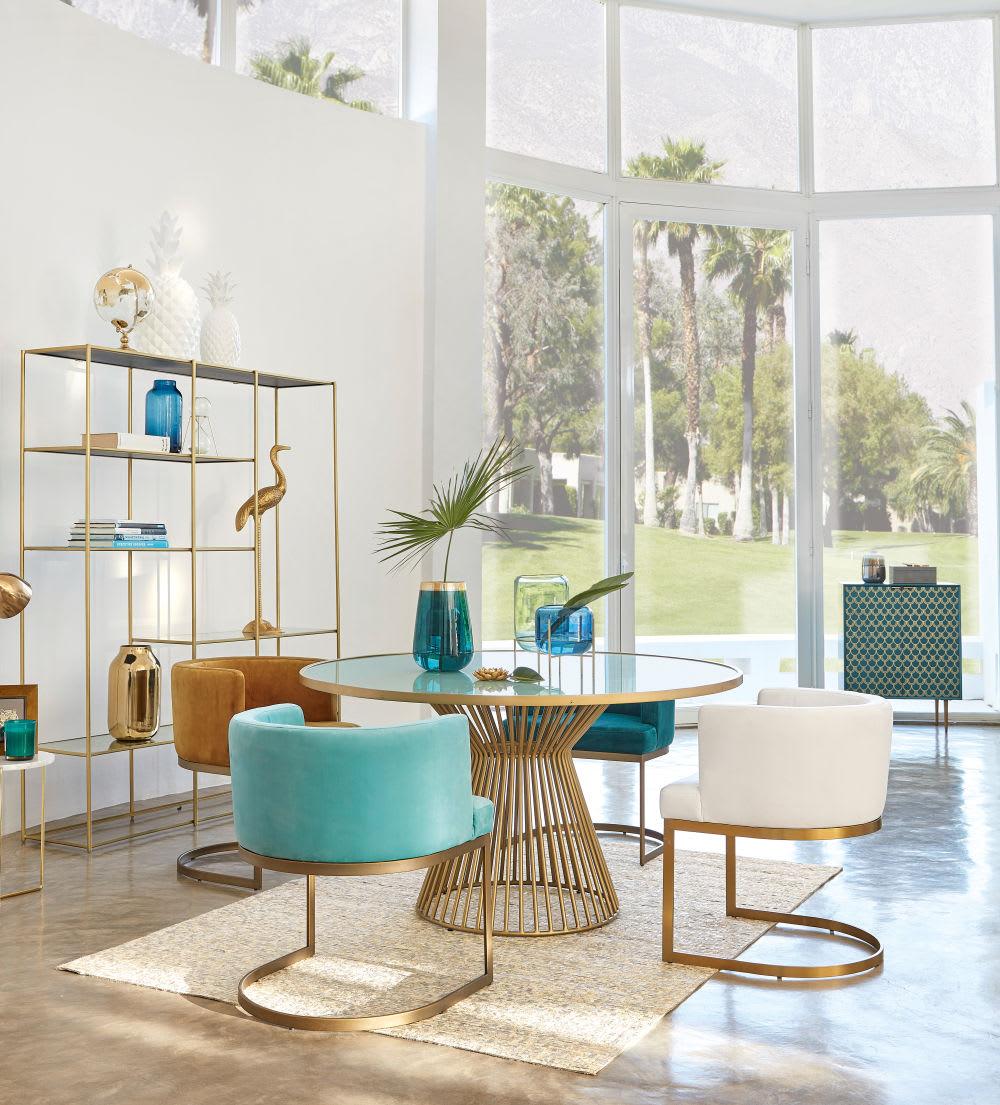 fauteuil vintage en velours jaune moutarde requiem. Black Bedroom Furniture Sets. Home Design Ideas