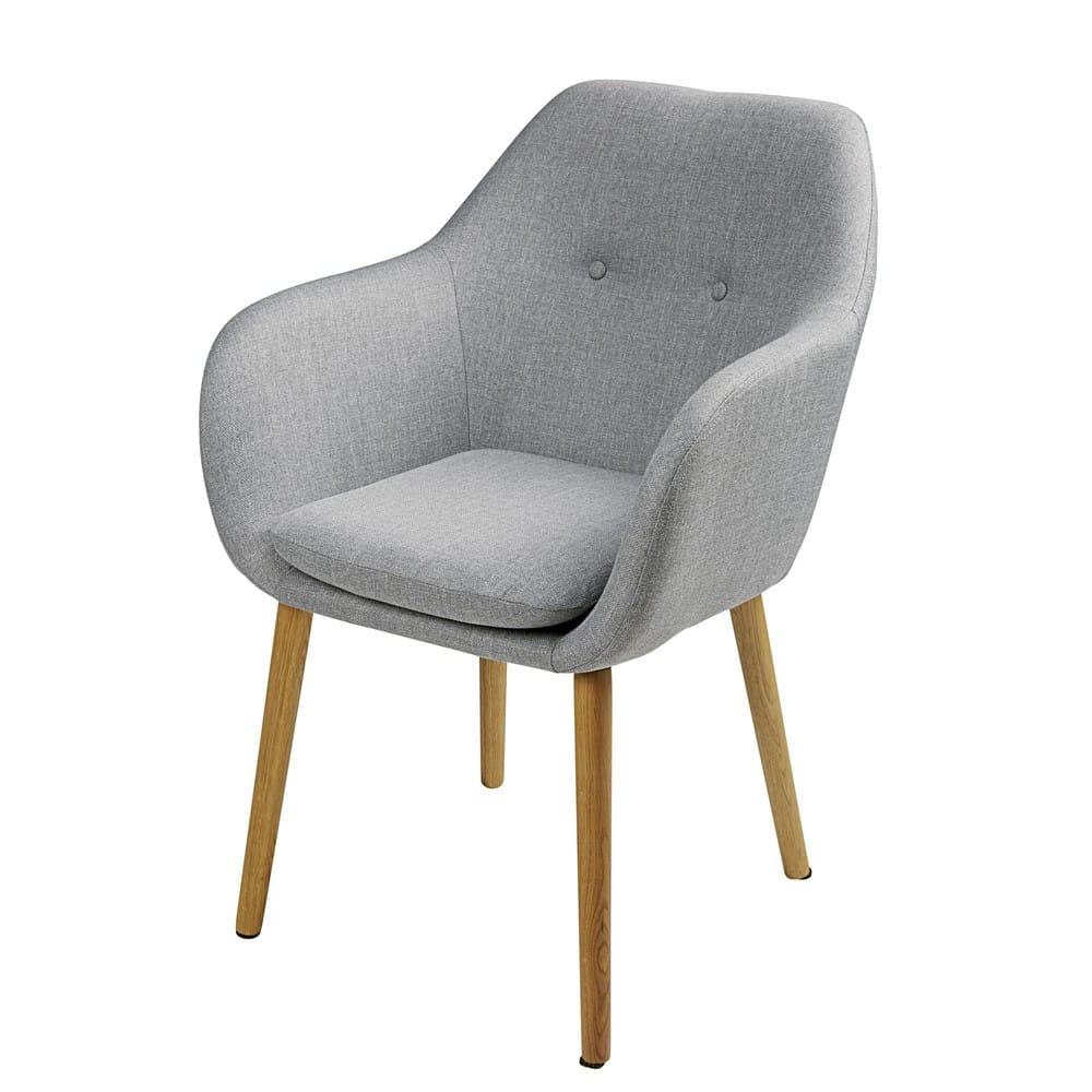 arnold - fauteuil vintage gris clair