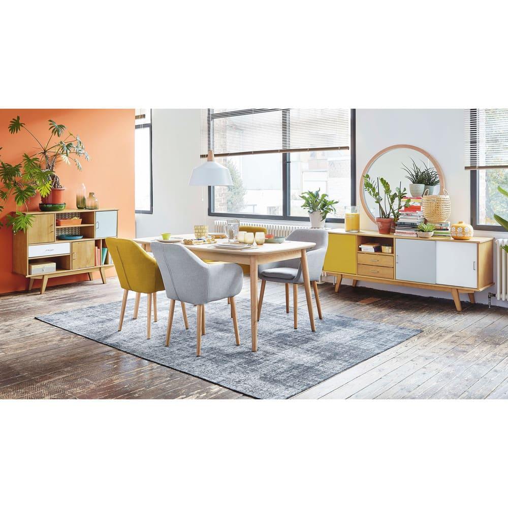 fauteuil vintage gris clair arnold maisons du monde. Black Bedroom Furniture Sets. Home Design Ideas