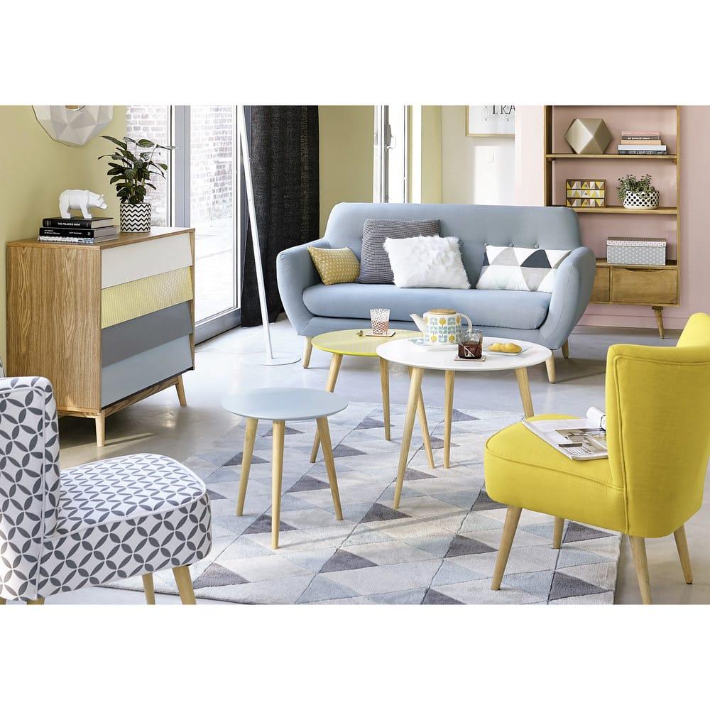 fauteuil vintage jaune scandinave maisons du monde. Black Bedroom Furniture Sets. Home Design Ideas