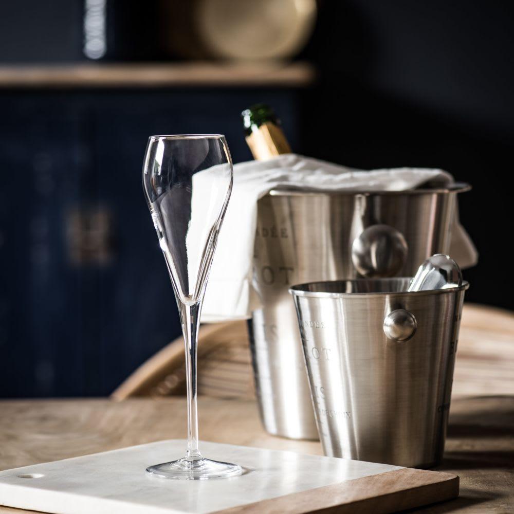 fl te champagne en verre super proseco maisons du monde. Black Bedroom Furniture Sets. Home Design Ideas