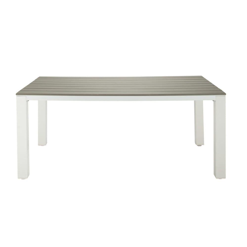 Gartentisch 6 personen aus aluminium und verbundwerkstoff l180 escale maisons du monde - Gartentisch 8 personen ...
