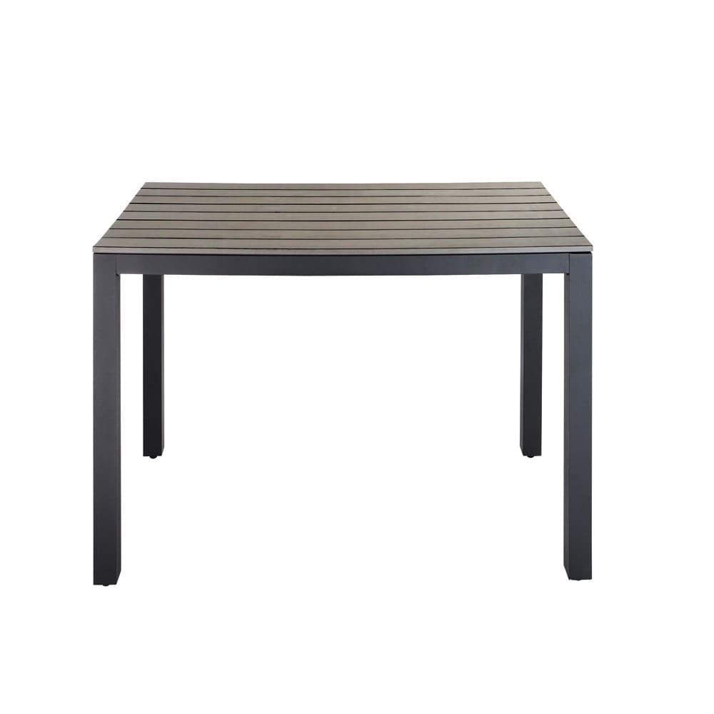 Gartentisch Aus Aluminium B 104 Cm Grau Escale Maisons Du Monde