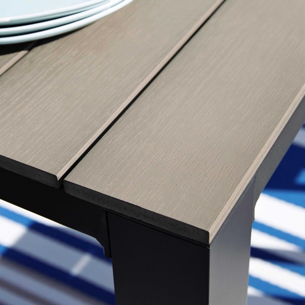 Gartentisch aus aluminium b 180 cm taupe escale for Gartentisch aluminium