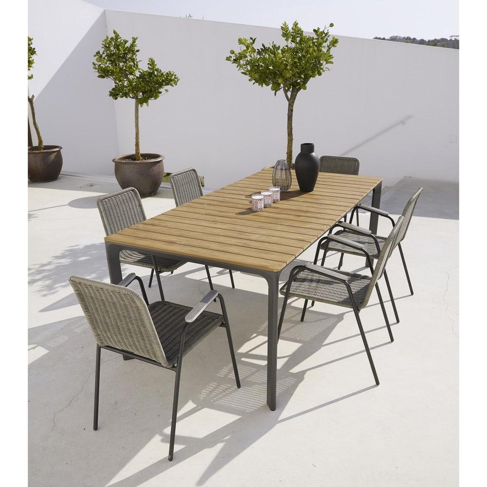 Gartentisch Fur 6 8 Personen Aus Verbundmaterial Und Aluminium L200