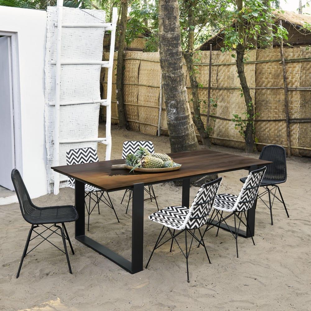 Gartentisch f r 6 personen aus verbundmaterial und for Gartentisch aluminium