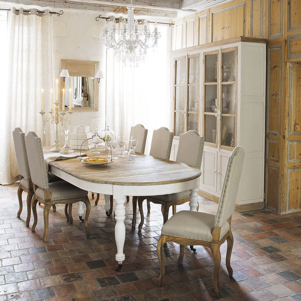 Geschirrschrank aus Mangoholz elfenbein Sisteron | Maisons du Monde