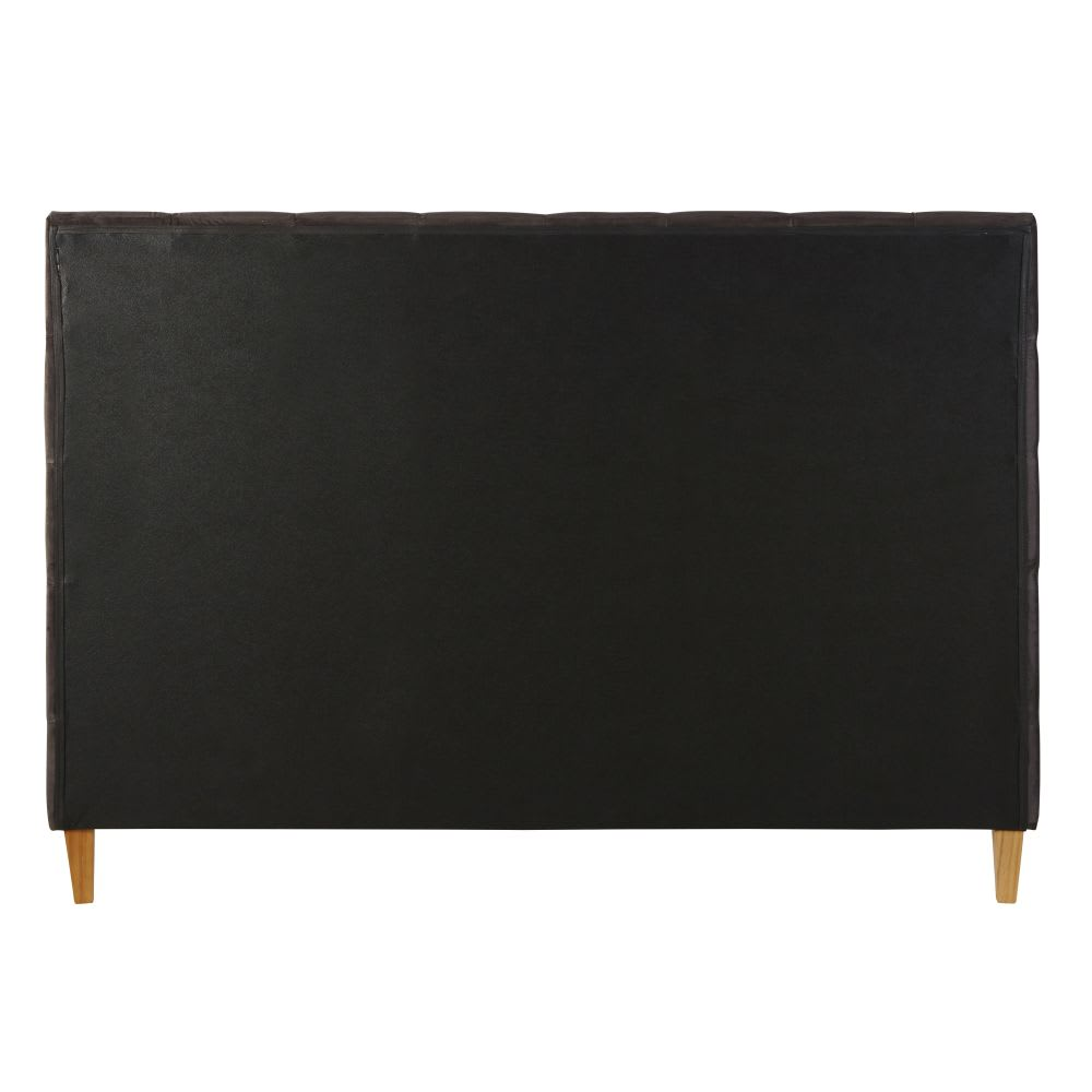 Gestepptes Bett Aus Samt Mit Lattenrost 160 X 200 Grau