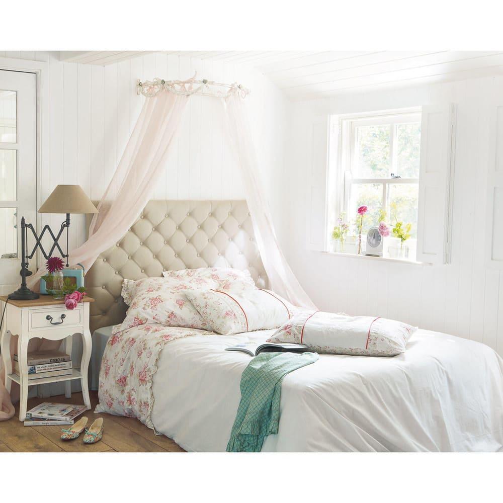 gestepptes bett kopfteil aus leinen b 140 cm chesterfield maisons du monde. Black Bedroom Furniture Sets. Home Design Ideas