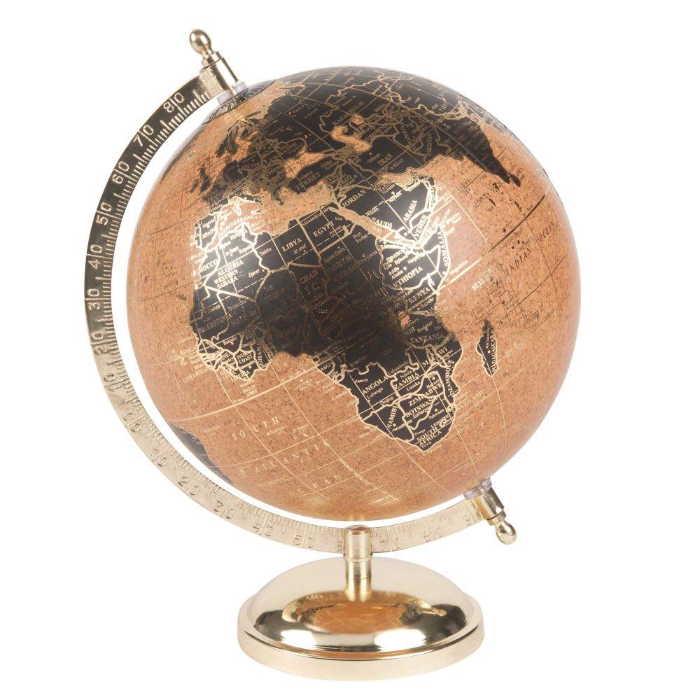 globe terrestre carte du monde style vintage en m tal. Black Bedroom Furniture Sets. Home Design Ideas