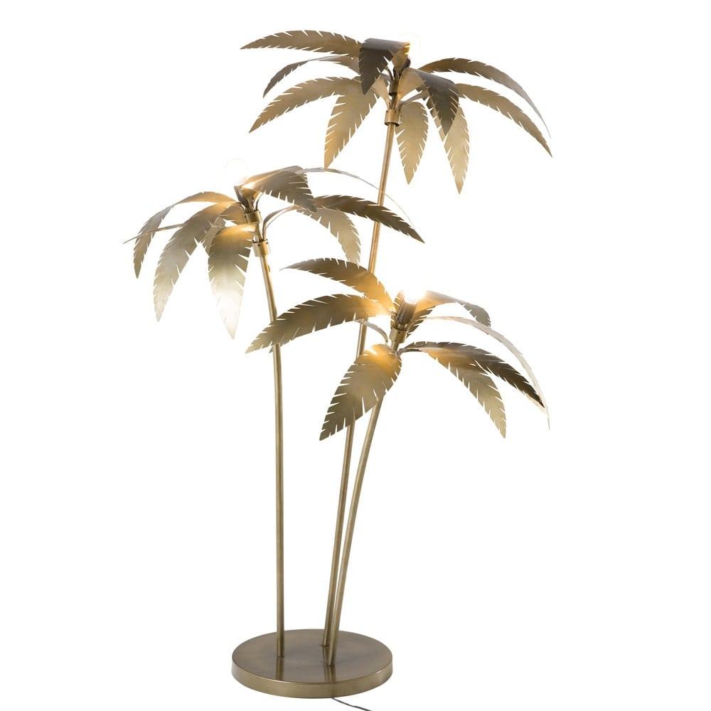 Gold Metal Palm Tree Floor Lamp H 158 Cm Palmier Maisons Du Monde