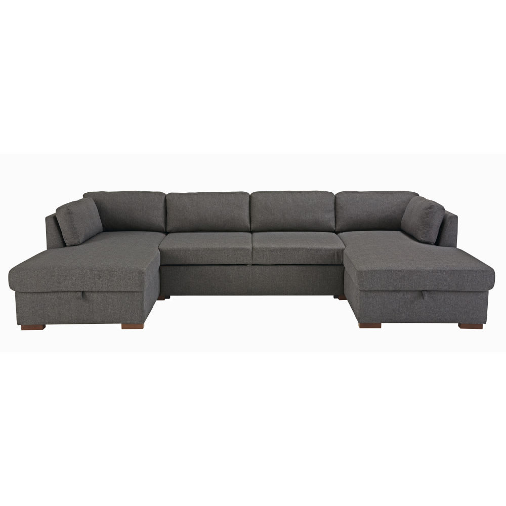 Grey 7 Seater U Shaped Sofa Bed Maisons Du Monde