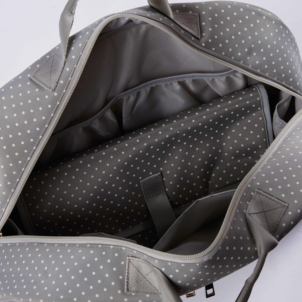 ae58509428a80 Grey Changing Bag with Polka Dots Capucine | Maisons du Monde