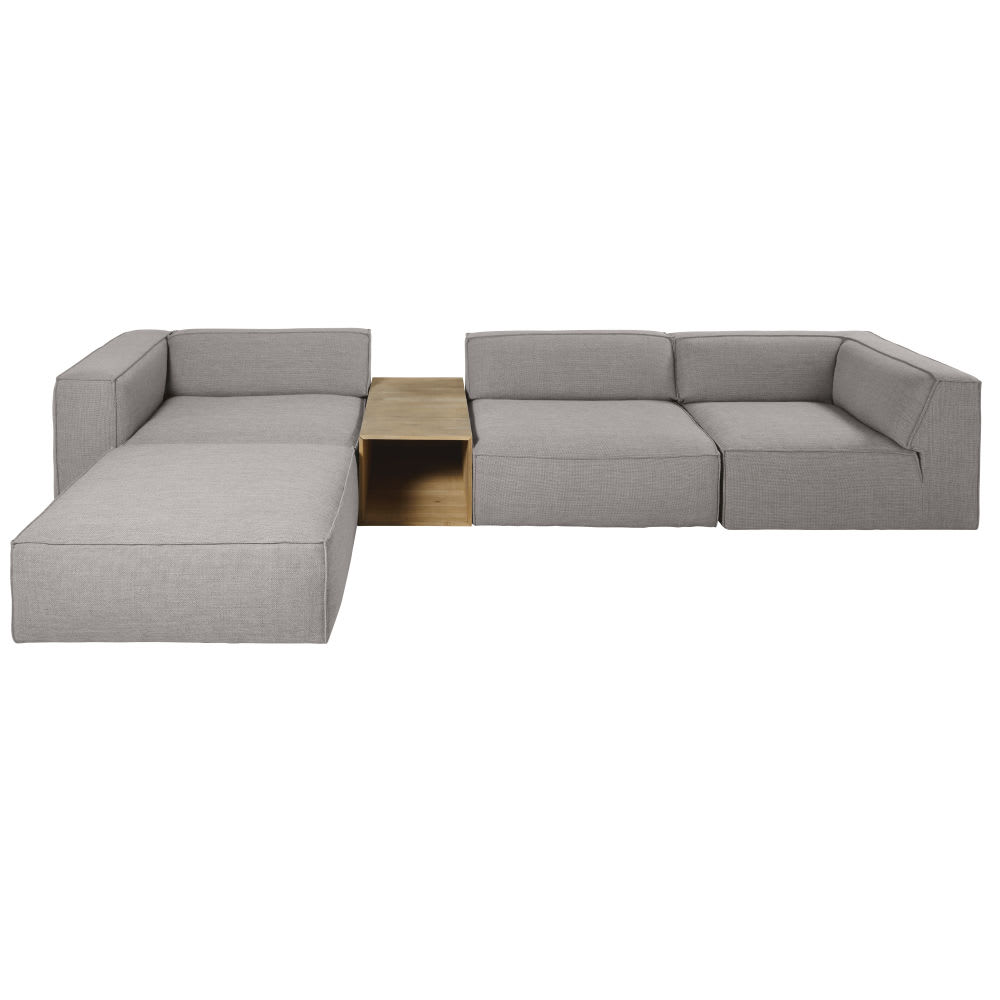 Grey Corner Sofa Fakir Maisons Du Monde
