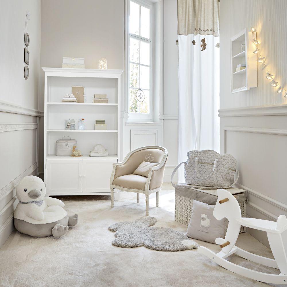 102a19b48a Grey Cotton Cushion with Sheep Print 35 x 35 Tresor | Maisons du Monde