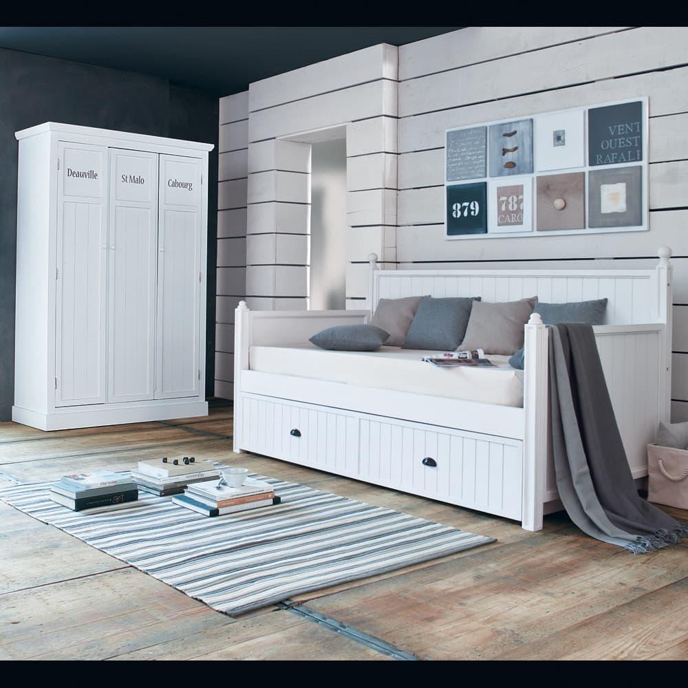 Guardaroba bianco in legno L 125 cm Newport | Maisons du Monde