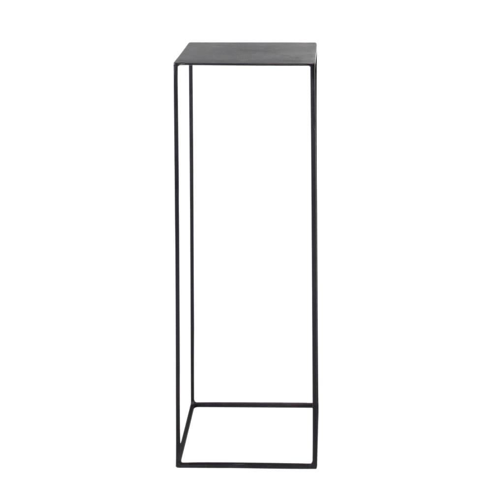 Guéridon indus en métal noir L 30 cm Edison | Maisons du Monde
