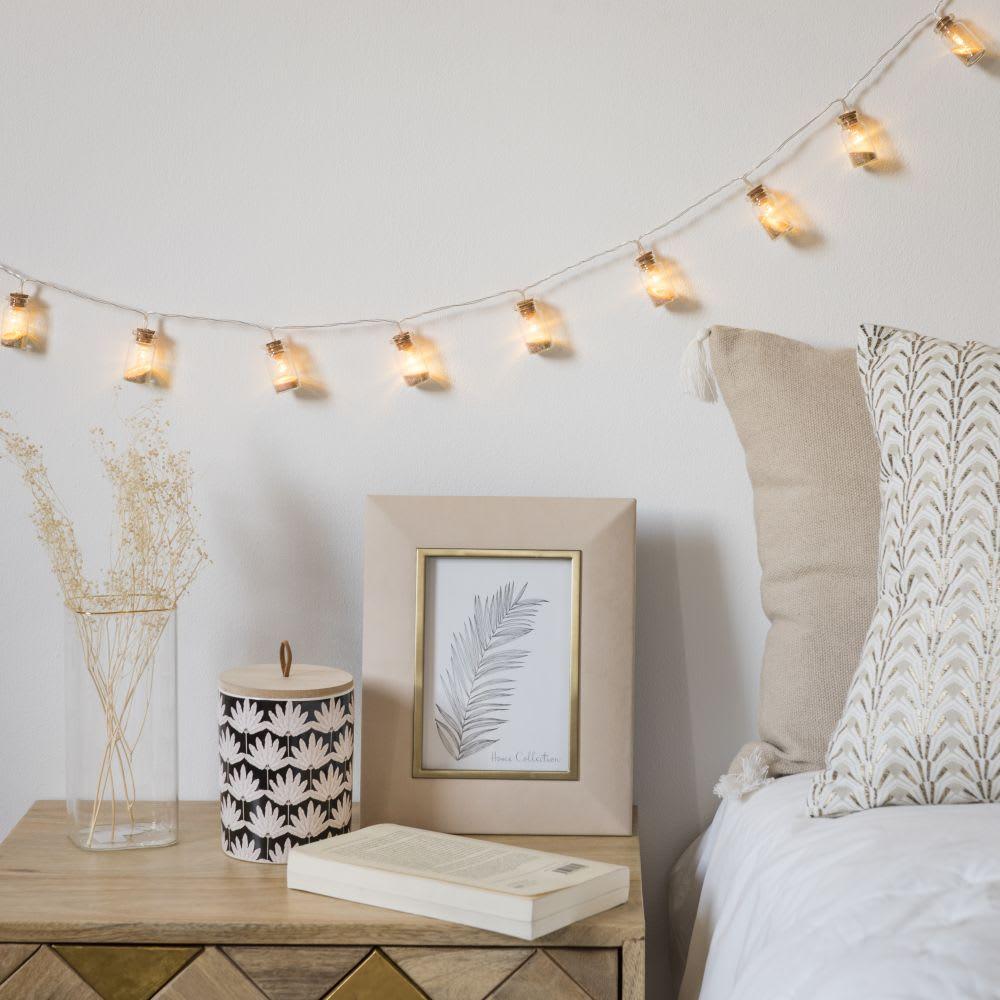 guirlande lumineuse 10 led flacons de sable sabline. Black Bedroom Furniture Sets. Home Design Ideas