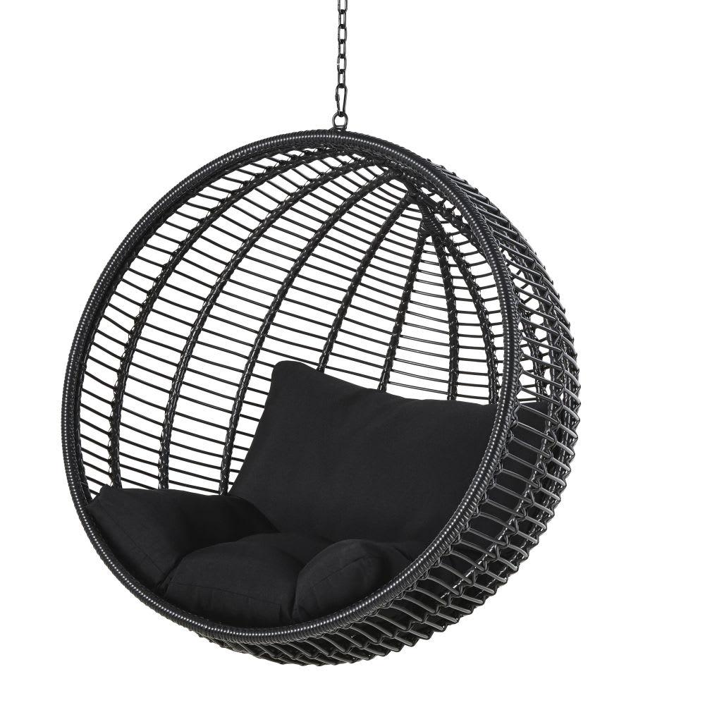 Hangstoel Voor In De Tuin.Hangstoel Tuin Van Zwarte Hars Calypso Maisons Du Monde