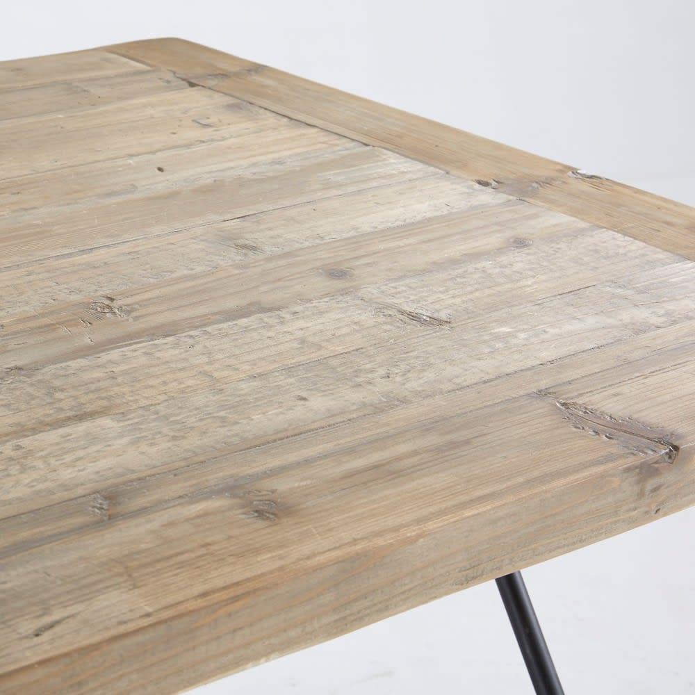 hoher esstisch f r 4 6 personen aus recyceltem kiefernholz. Black Bedroom Furniture Sets. Home Design Ideas