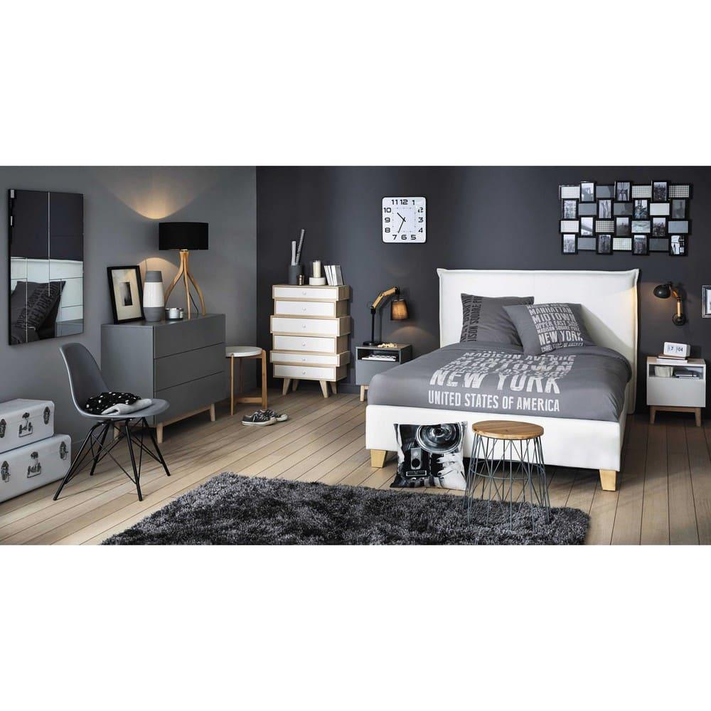 Holzbett Mit Bettkasten: Holzbett Mit Lattenrost Und Bettkasten, 160x200, Weiß