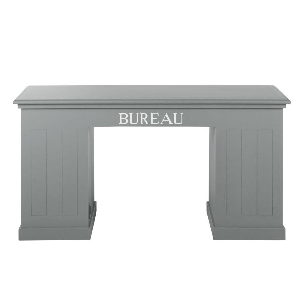 Holzschreibtisch, B 150 cm, grau Newport | Maisons du Monde
